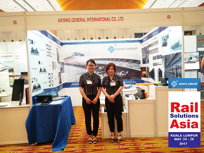 AGICO rail stand at Rail Solution Asia 2017