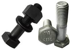 High Strength Bolt Commonly Used in Railroad, Cranes and Bridges---ASTM A325 Bolts