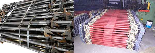 insulated railway gauge rods and common type railway gauge rods
