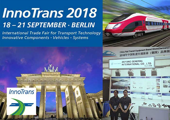 invitation of Inno Trans 2018 from AGICO Rail
