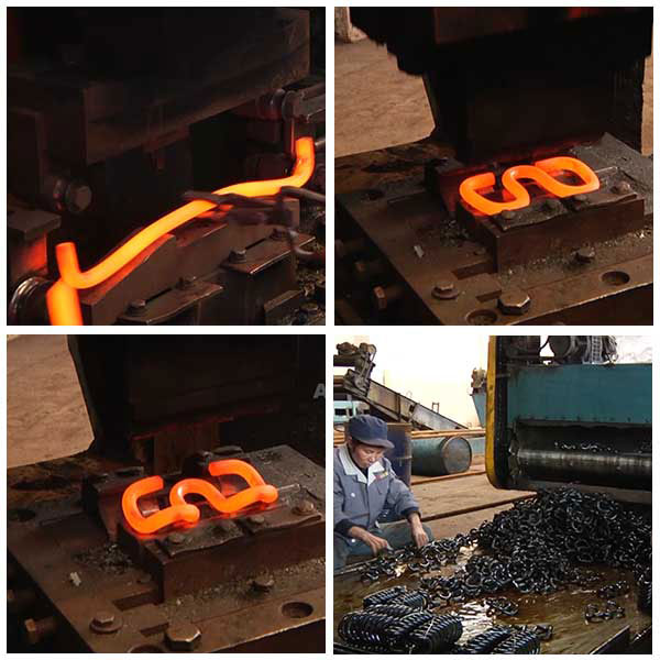 production process of elastic rail clips