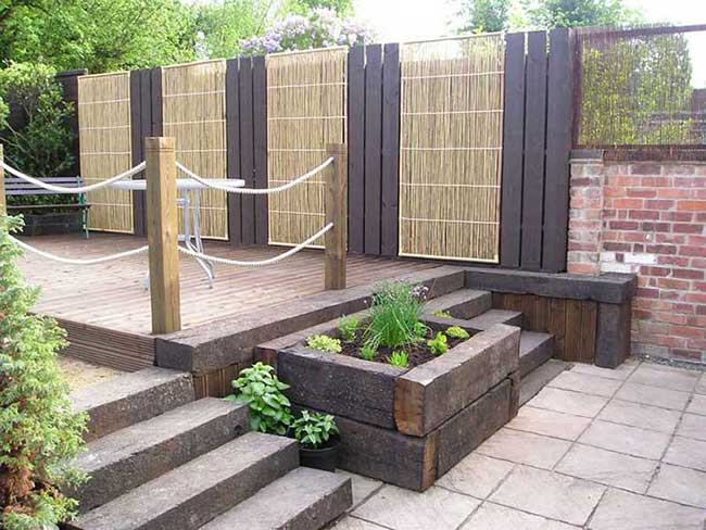 Railroad ties for Gardens on natural swimming pool design, sensory garden design, garden layout, energy efficient house design, lng plant design, garden rail, garden railway, rock garden design, scale design, architects design, birds design, garden trains, water garden design, straw bale house design,