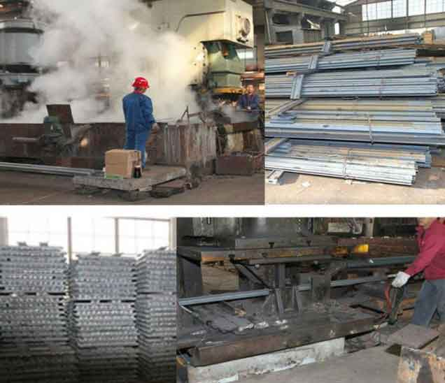 railway fish plate production and packaged railway fish plates