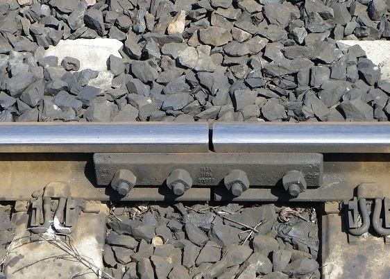 railway fishplate in heavy rail