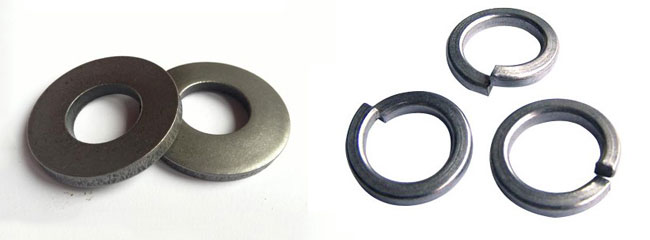 Spring washer and flat washer