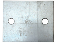 two holes rail pad