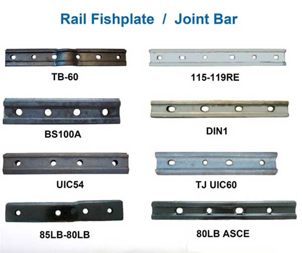 various standards of railway fish plate