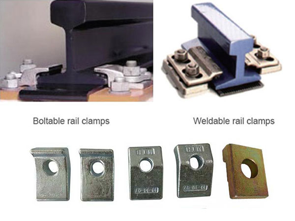 various types of rail clamps for rail fastening