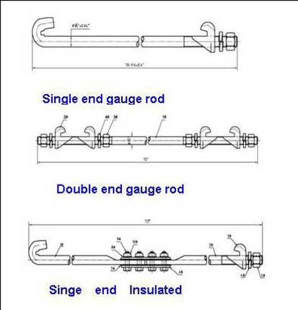 single end gauge rod and double end gauge rod